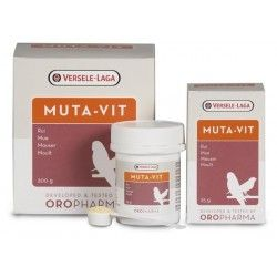 Versele-Laga Muta-Vit à 200 g, Mélange spécial de vitamines, acides aminés et oligo-éléments. Cage à oiseaux