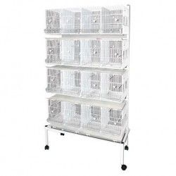 Battery 4 Cages Subway White + Bracket