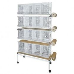 Batterie de 4 Cages de métro+ Papier Blanc