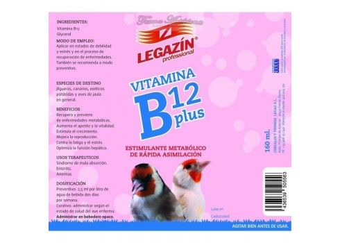 Legazín Vitamina B12 Plus 160 ml.