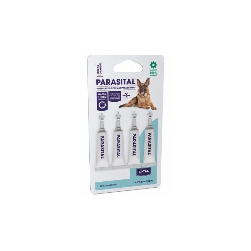 Parasital Pipettes Insectifuges, les Grands Chiens 4uds
