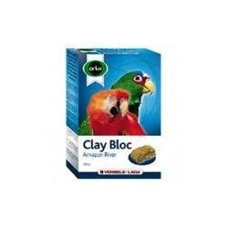Versele Laga Orlux Amazon 550g Clay Mineral Block pour les grandes perruches et perroquets.