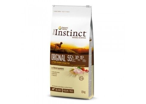 Pienso para perros adultos True Instinct Original Medium - Maxi con pollo 12Kg