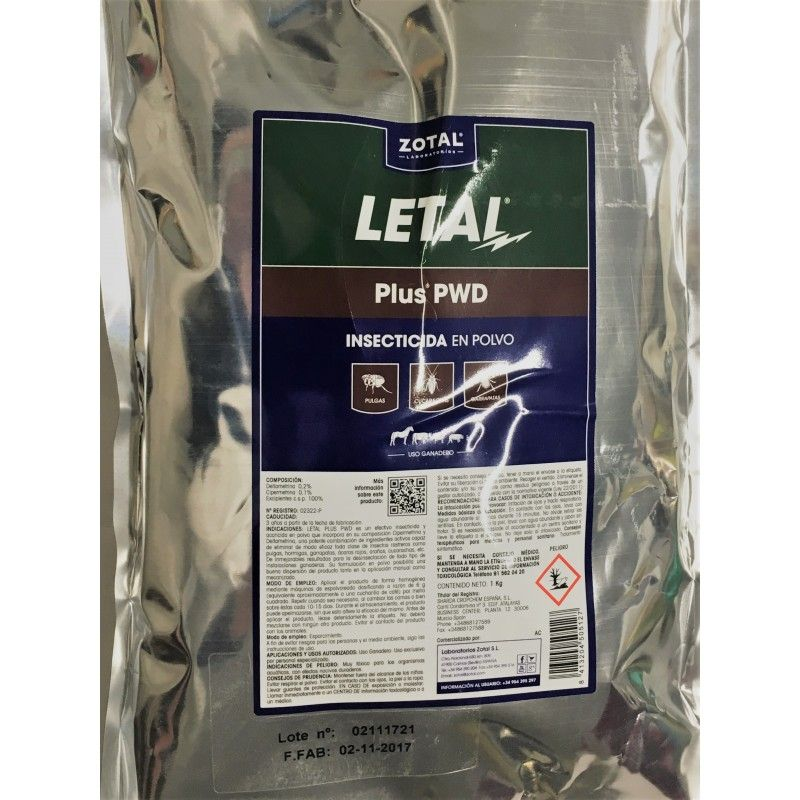 Lethal Plus. Insecticide microgránulo. sac de 1 kg