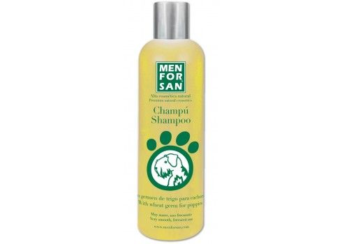 Champú Menforsan con germen de trigo 300 ml especial cachorros