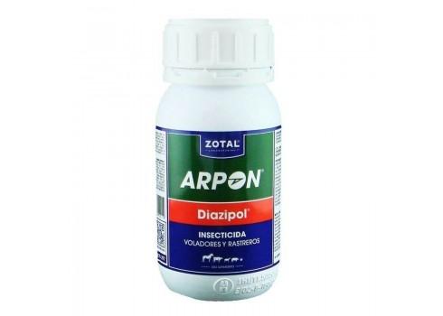 Insecticida Arpón Diazipol, para voladores y rastreros 250 ml.