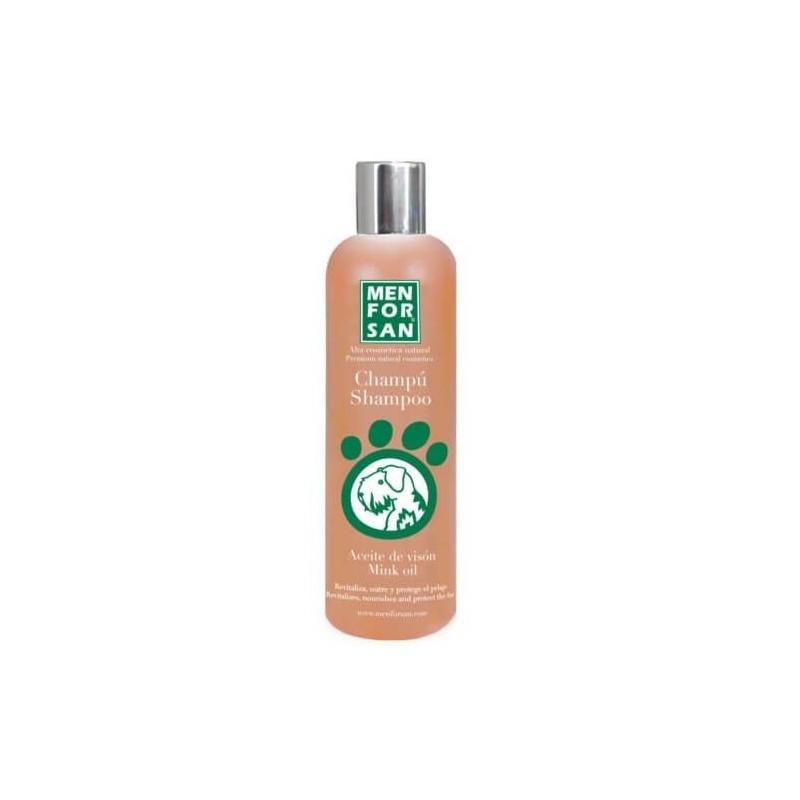 Menforsan chanpu pour les chiens à l'huile de vison 300 ml