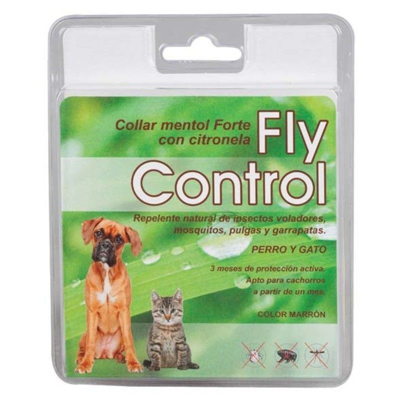 FLY CONTROL menthol dog and cat necklace