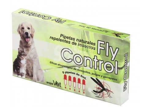 Natural repellent pipettes for dogs and cats FLY CONTROL 5pc.