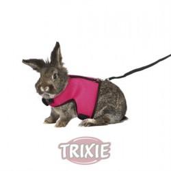 Harnais souple pour les lapins grande avec sangle de 25 à 40 cm TRIXIE