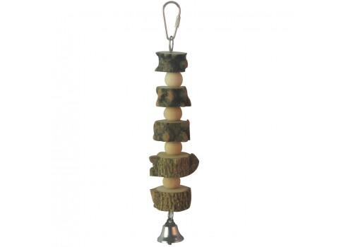 Juguete de madera natural para pájaros ICA BR418