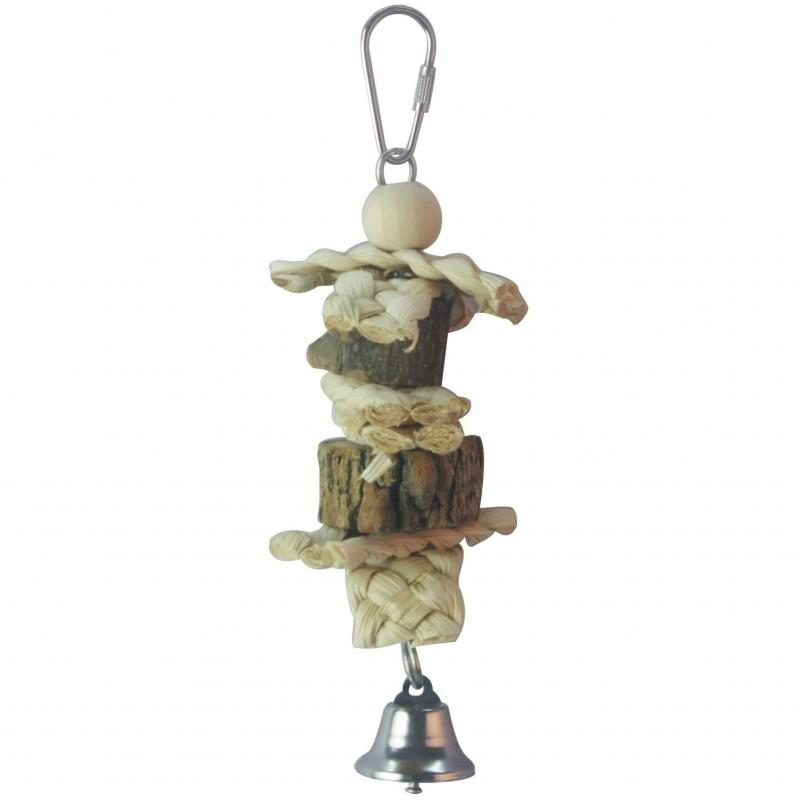 Juguete de madera natural para pájaros ICA BR405