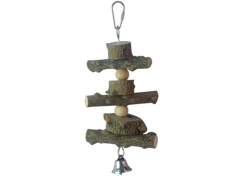 Juguete de madera natural para pájaros ICA BR413