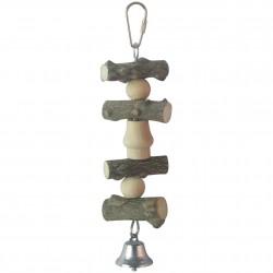 Juguete de madera natural para pájaros ICA BR416