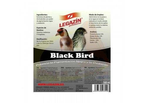 L'Oiseau noir, Legazin 160 ml