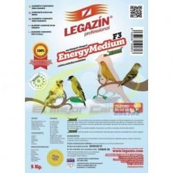 Alimento para pájaros LEGAZIN ENERGY MEDIUM F3 5 kg