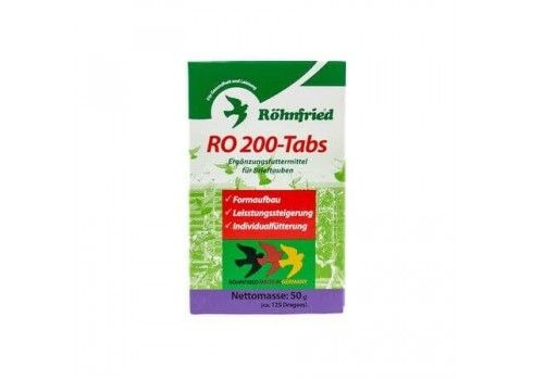 Suplemento para aves RO 200 TABS ROHNFRIED 50 gr