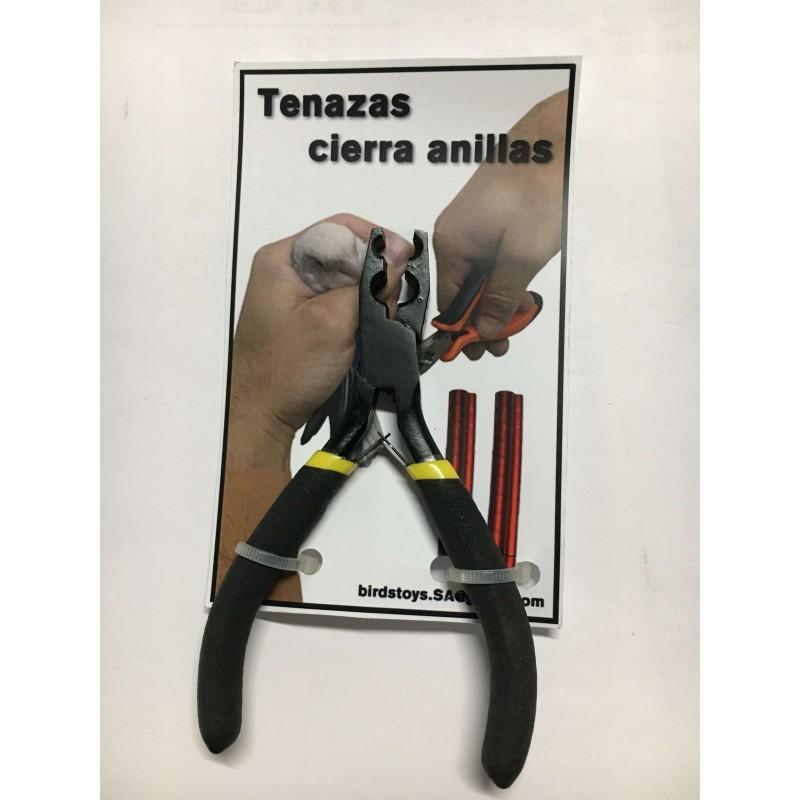 Tongs closed rings for ornitoligia