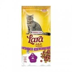 Aliment complet pour chats stérilisés LARA, VERSELE LAGA de POULET 2 k