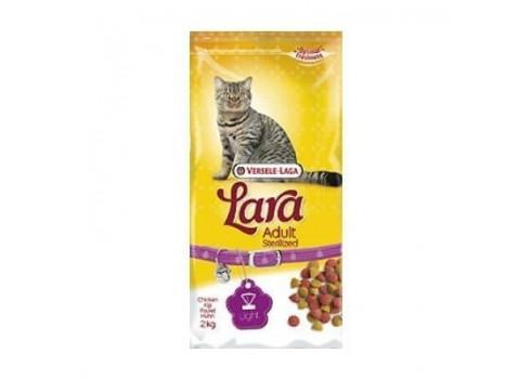 Alimento completo para gatos esterilizados LARA VERSELE LAGA POLLO 2 k