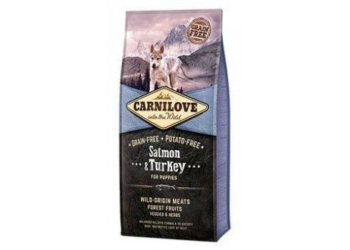 Feed Salmon and turkey Puppies CARNILOVE 12 kg