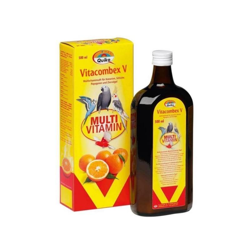 Multivitaminico líquido para aves VITACOMBEX V QUIKO 500ml