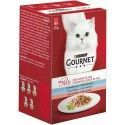Food for cats, COD, SARDINE AND SALMON MON PETIT GOURMET PURINE-6 x 50 gr