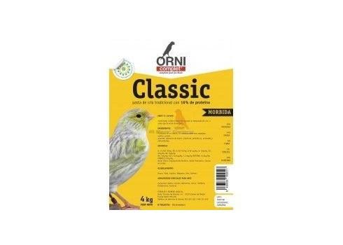 Pasta de cría amarilla MÓRBIDA CLASSIC ORNICOMPLET 4 kg