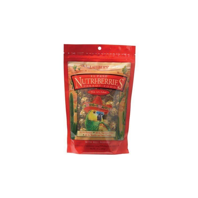 Alimento para loros mediano y grandes NUTRI BERRIES EL PASO 284 gr