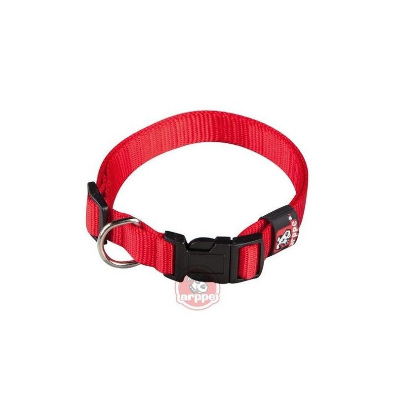 Collar ARPPE NYLON BASIC ROJO 23-47 CM