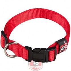 Collar ARPPE NYLON BASIC RED 23-47 CM