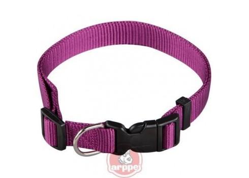 Collar ARPPE NYLON BASIC PURPLE 23-42 CM