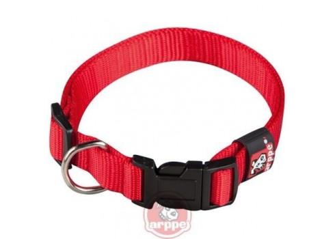 Collar ARPPE NYLON BASIC RED 23-47 CM