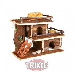 Villa con snacks y forraje