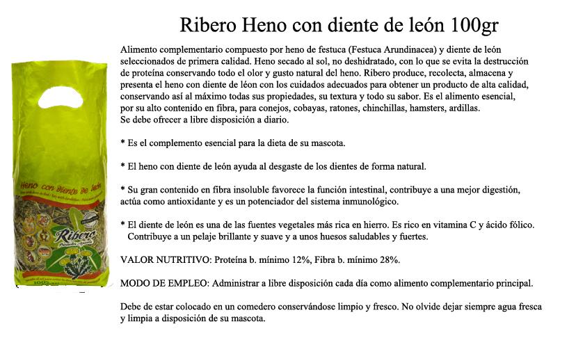 Ribero Hay with Dandelion 100gr