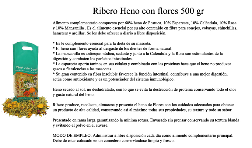 Ribero Hay with flowers 500 gr